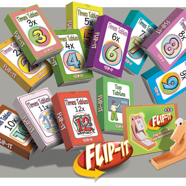 Flip-It times tables cards