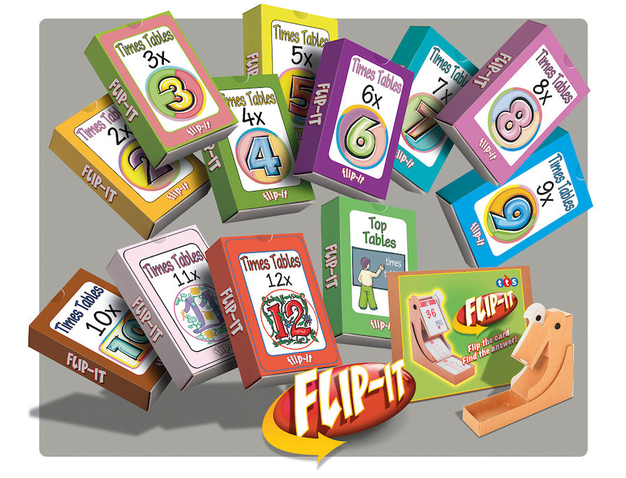 Use Flip-It to enable any child to master their times tables
