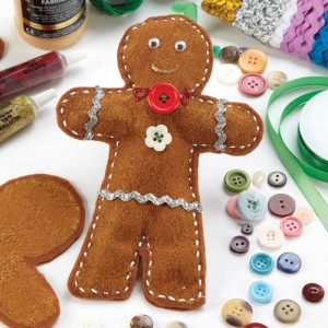 Creative Christmas felt gingerbread man