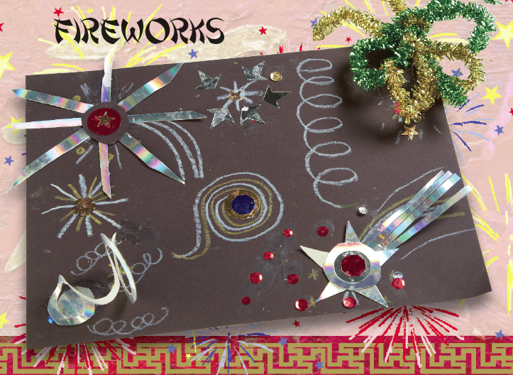 Chinese new year fireworks craft idea