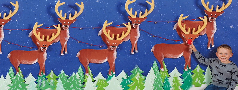 Christmas Reindeer scene