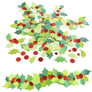 Holly and Berries Paper Shapes