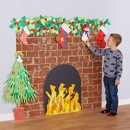Christmas Fireplace and Hearth