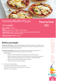 Yummy Muffin Pizzas Tip Sheet