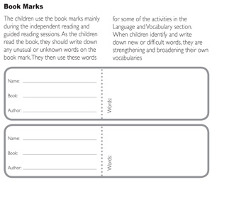 Guided Reader Book - BookMarks