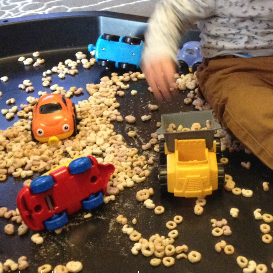 Tuff Spot - filling and emptying cereal