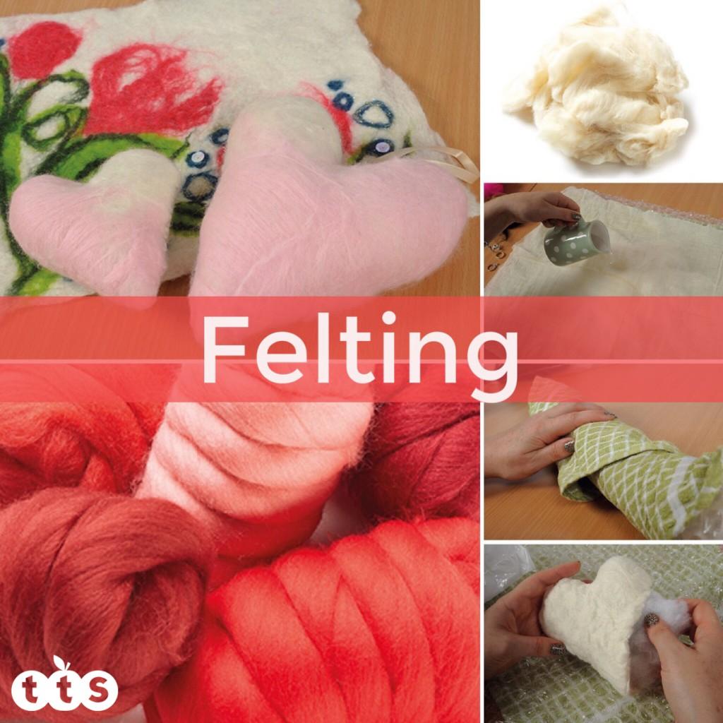 felting craft for valentines