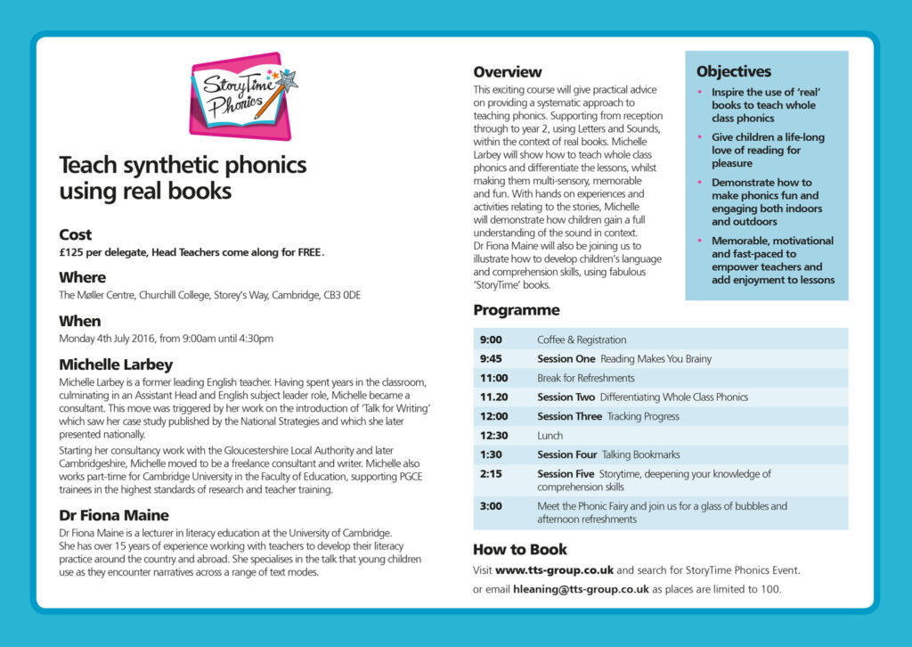 STORYTIME PHONICS agenda