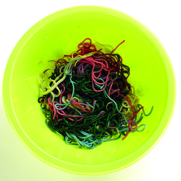 Rainbow spaghetti halloween recipe