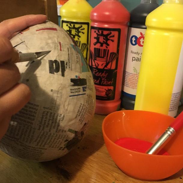 papier mache egg 3