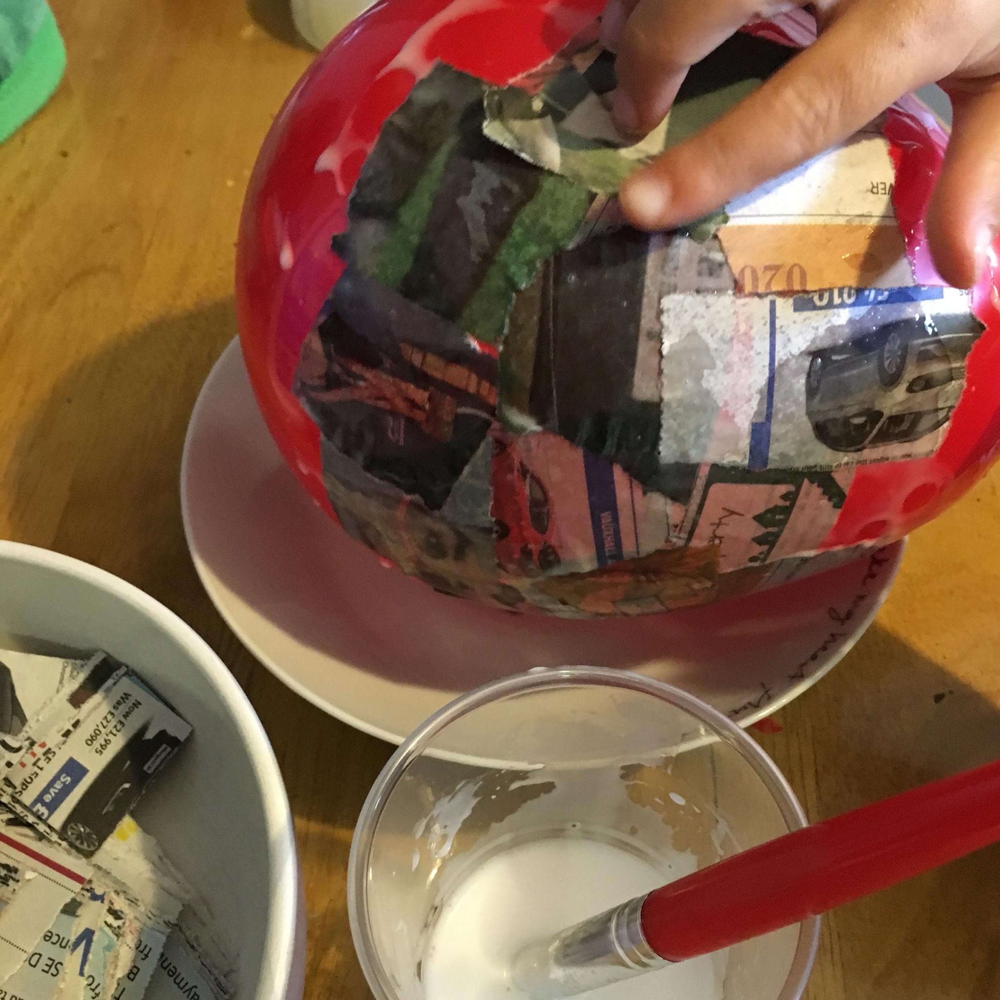 papier mache egg 2
