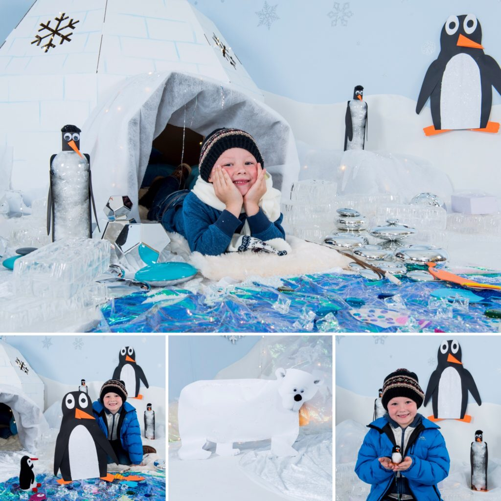 Antarctic Penguins and Igloo display idea