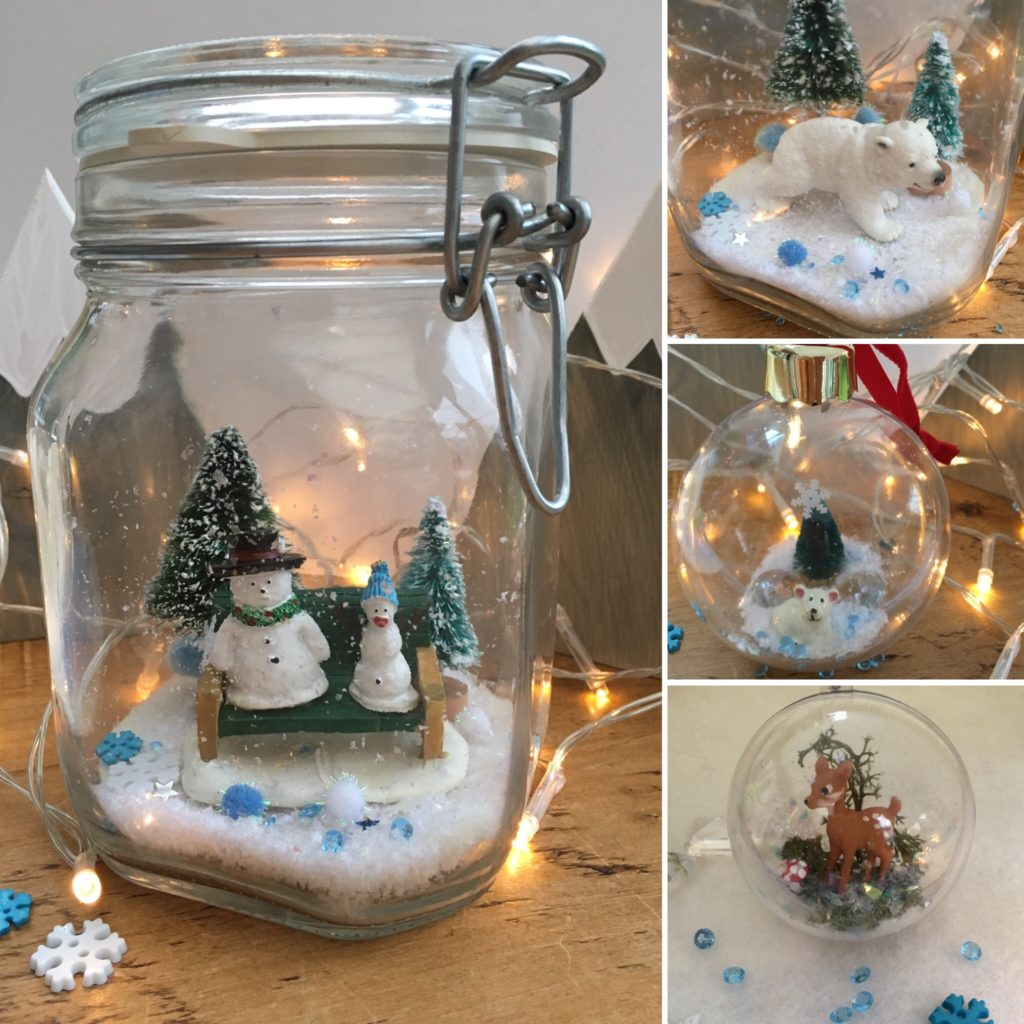 Christmas jar and bauble craft by Lottie Makes