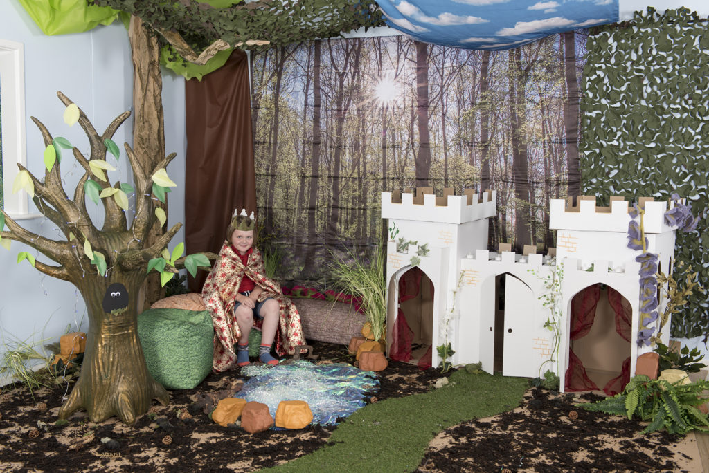 Castle woodland themed learning location display