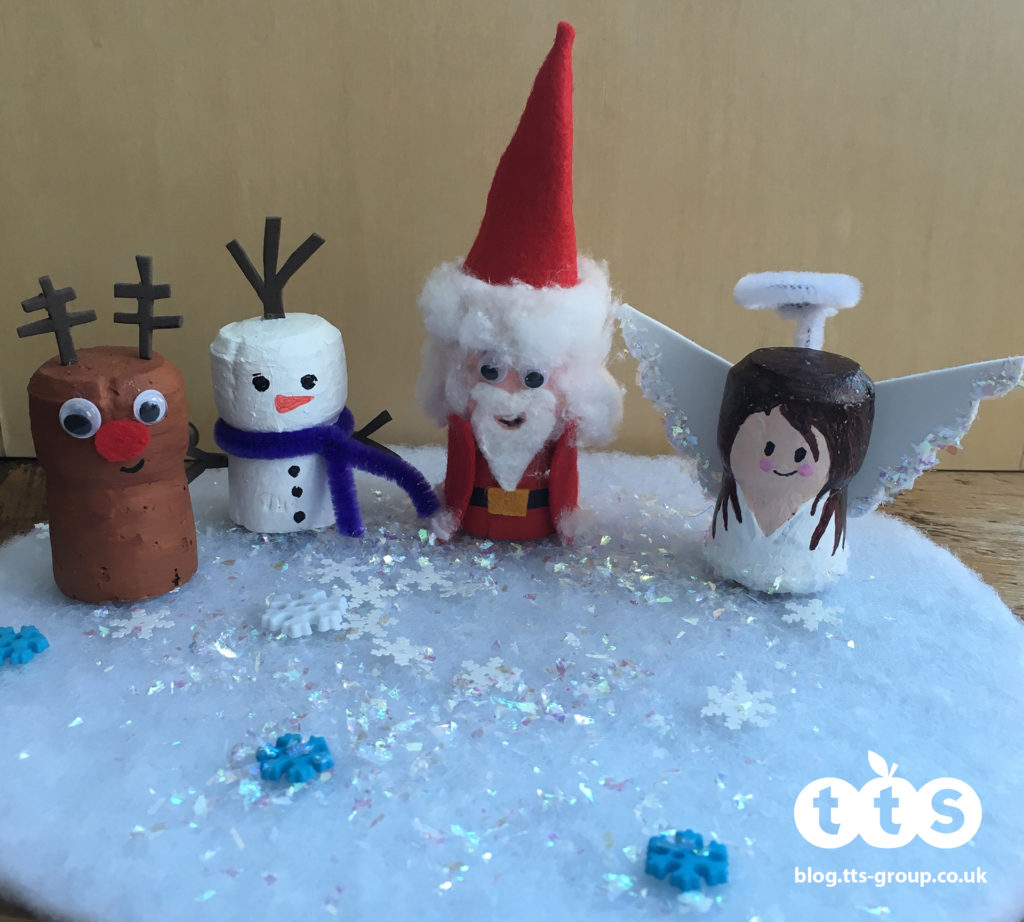Christmas cork characters by Lottie Makes