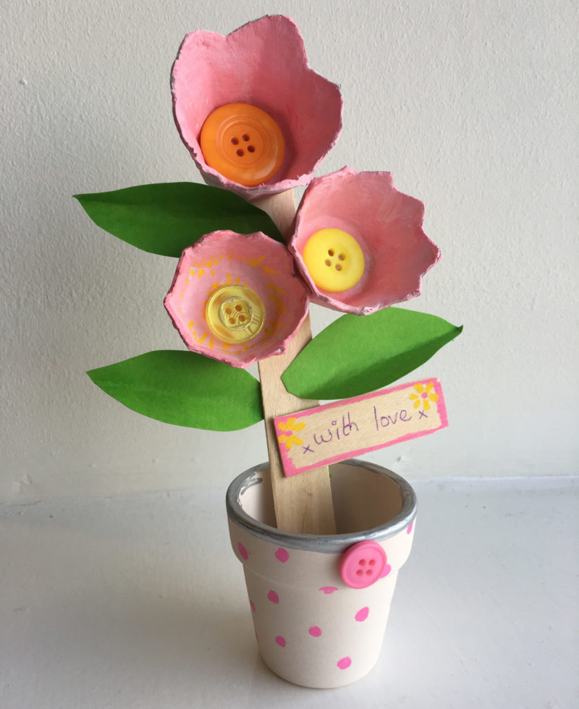 Egg box flower craft