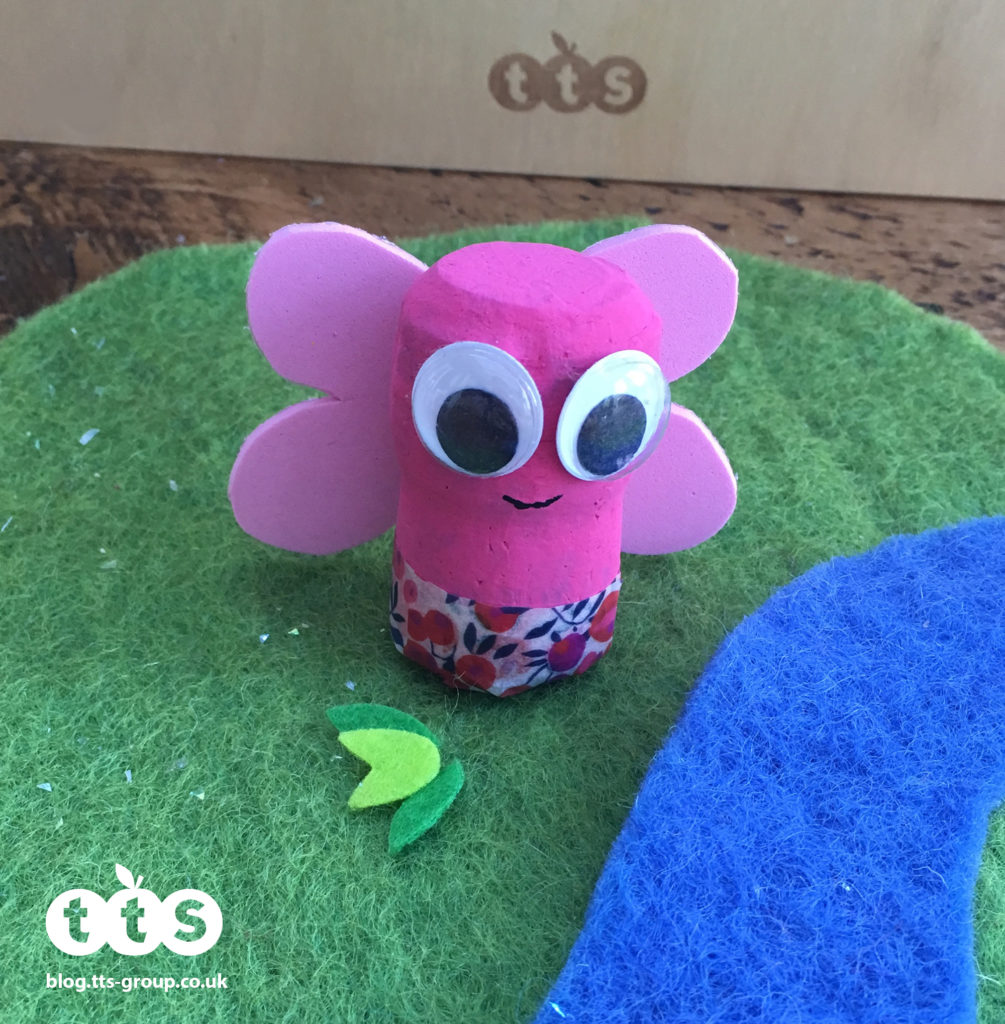 butterfly cork character by Lottie Makes