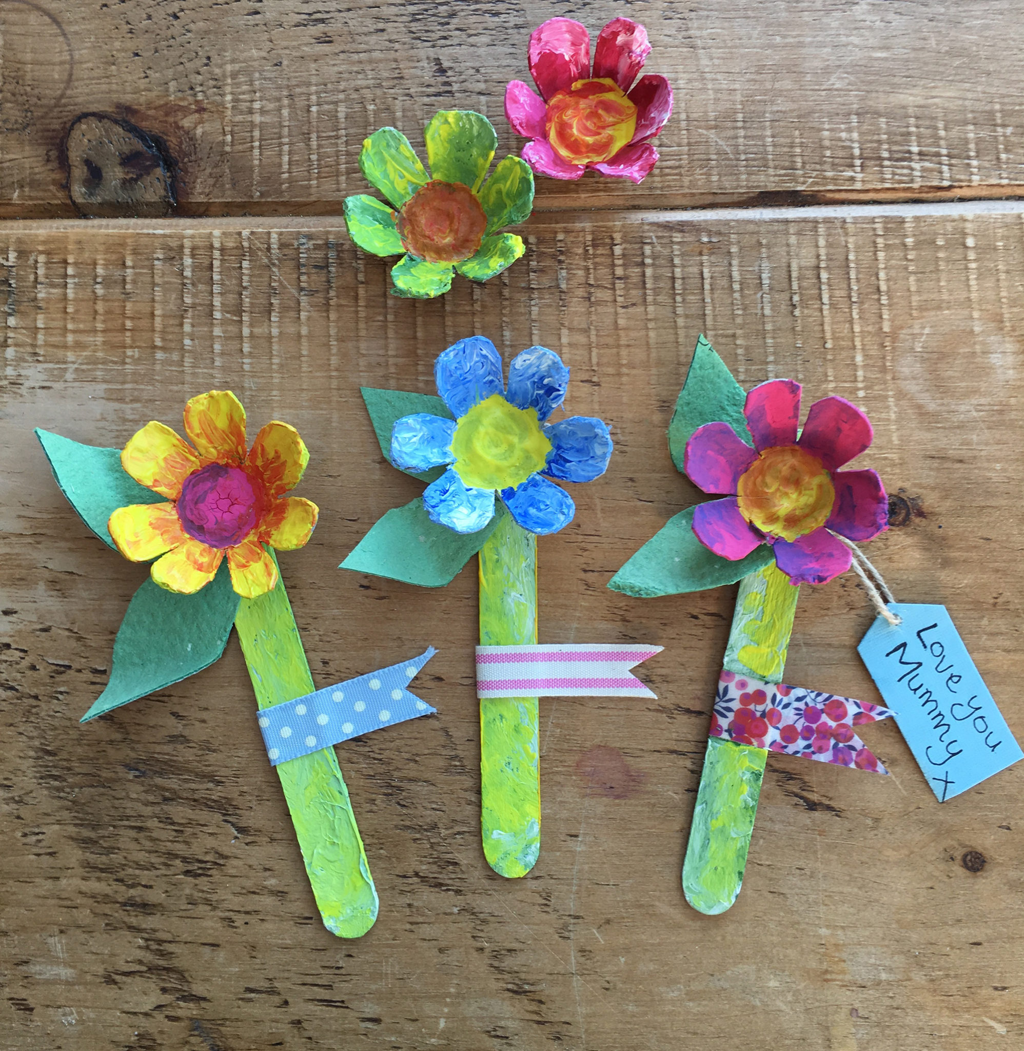 Mother's Day Egg Box Flowers Craft