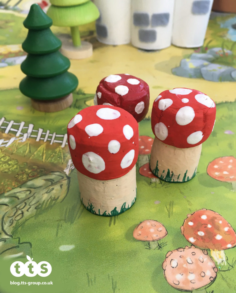 toadstool cork characters by Lottie Makes