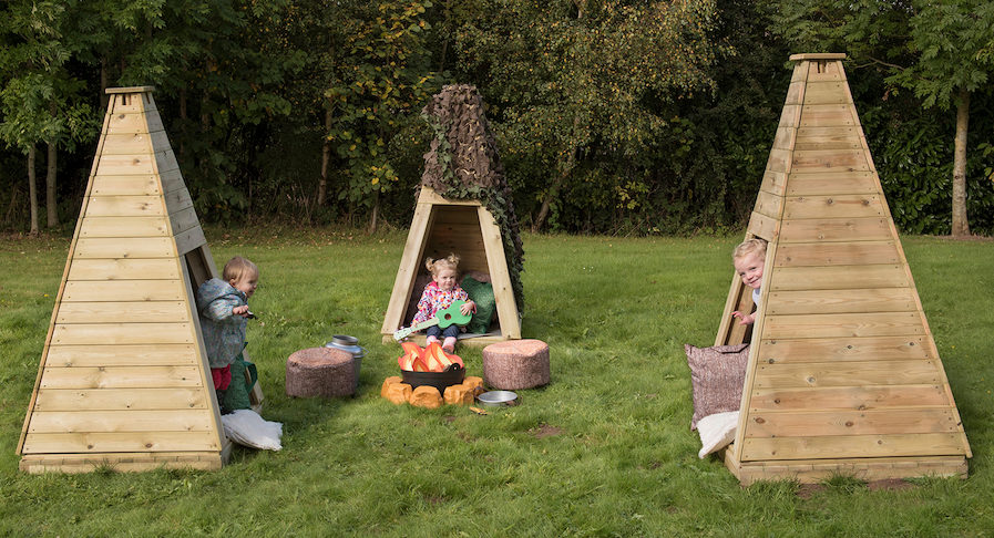 Outdoor teepee