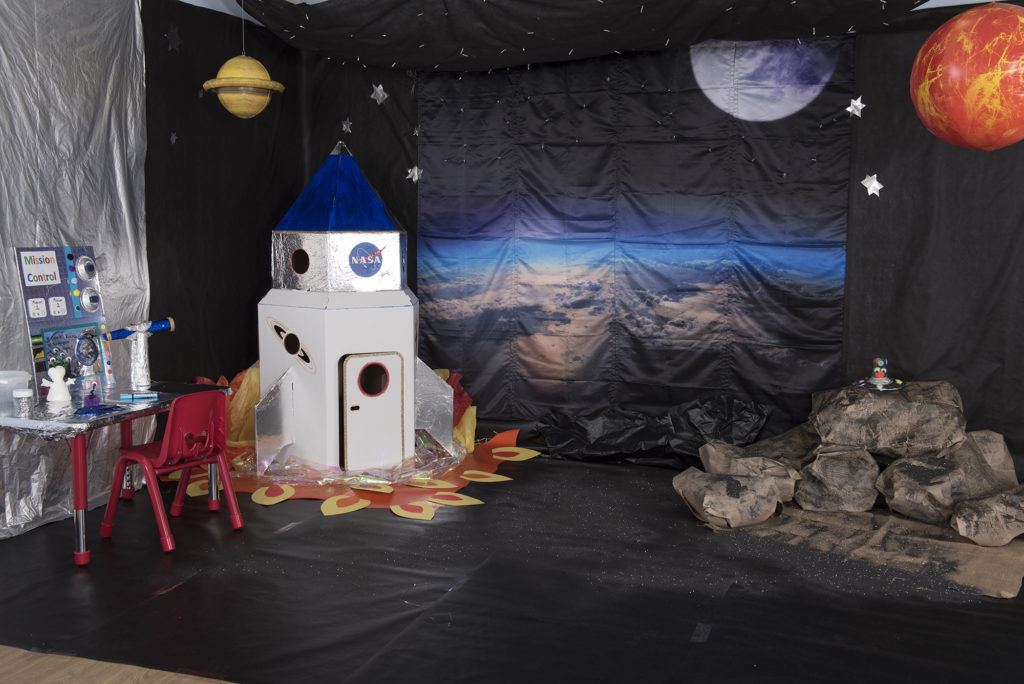 space themed immersive learning environment location