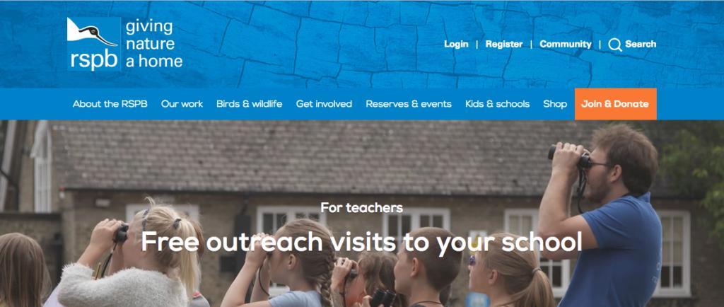 RSPB free school visits