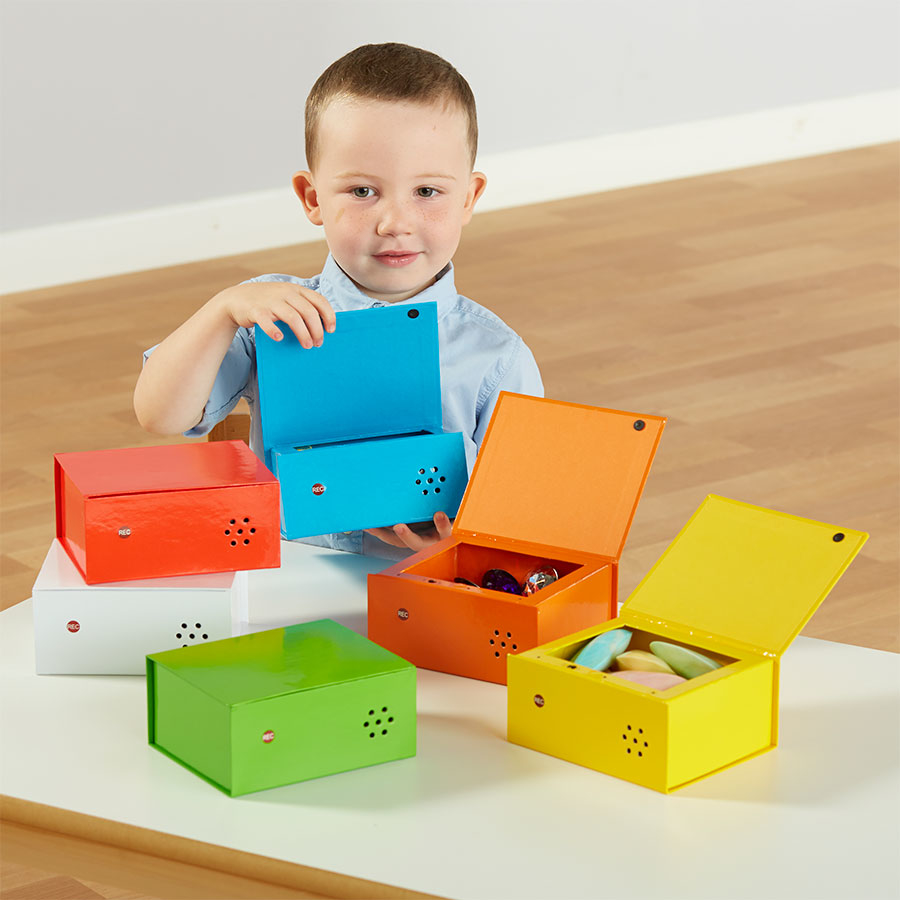 Recordable talking boxes ICT in Early years