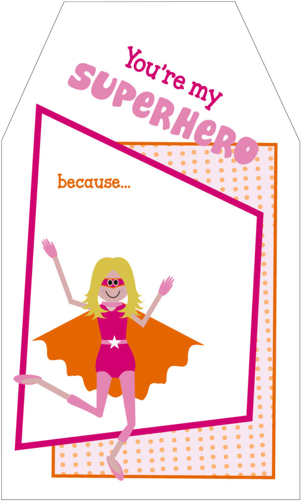 teacher appreciation superhero girl tag TTS copy