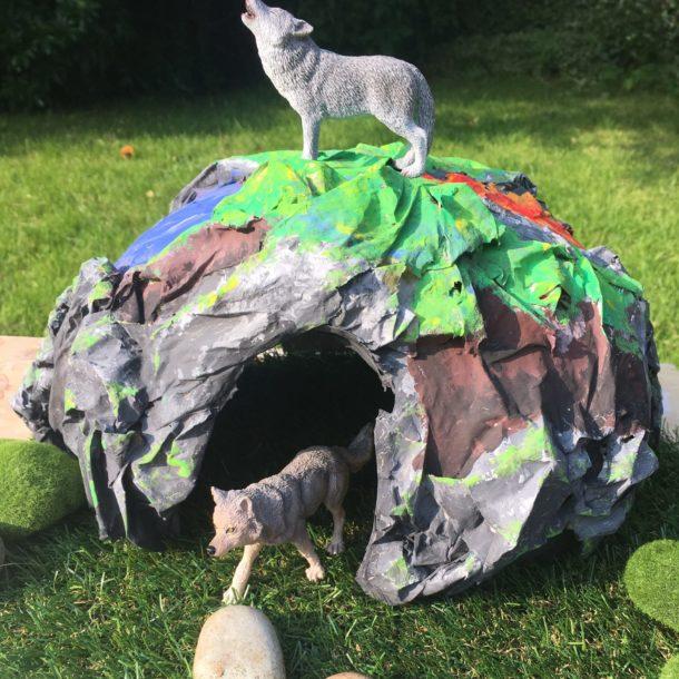 minecraft papier mache cave 14
