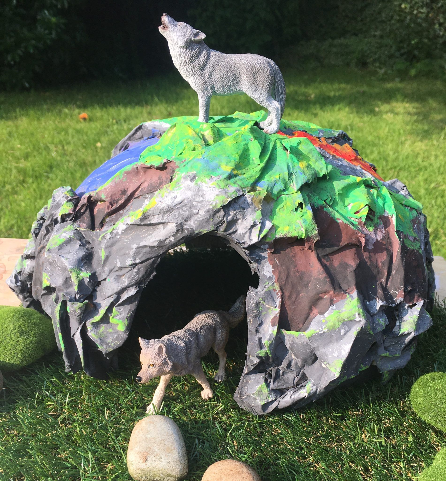 Classroom Exercise Ideas ~ How to make a papier mache cave tts inspiration