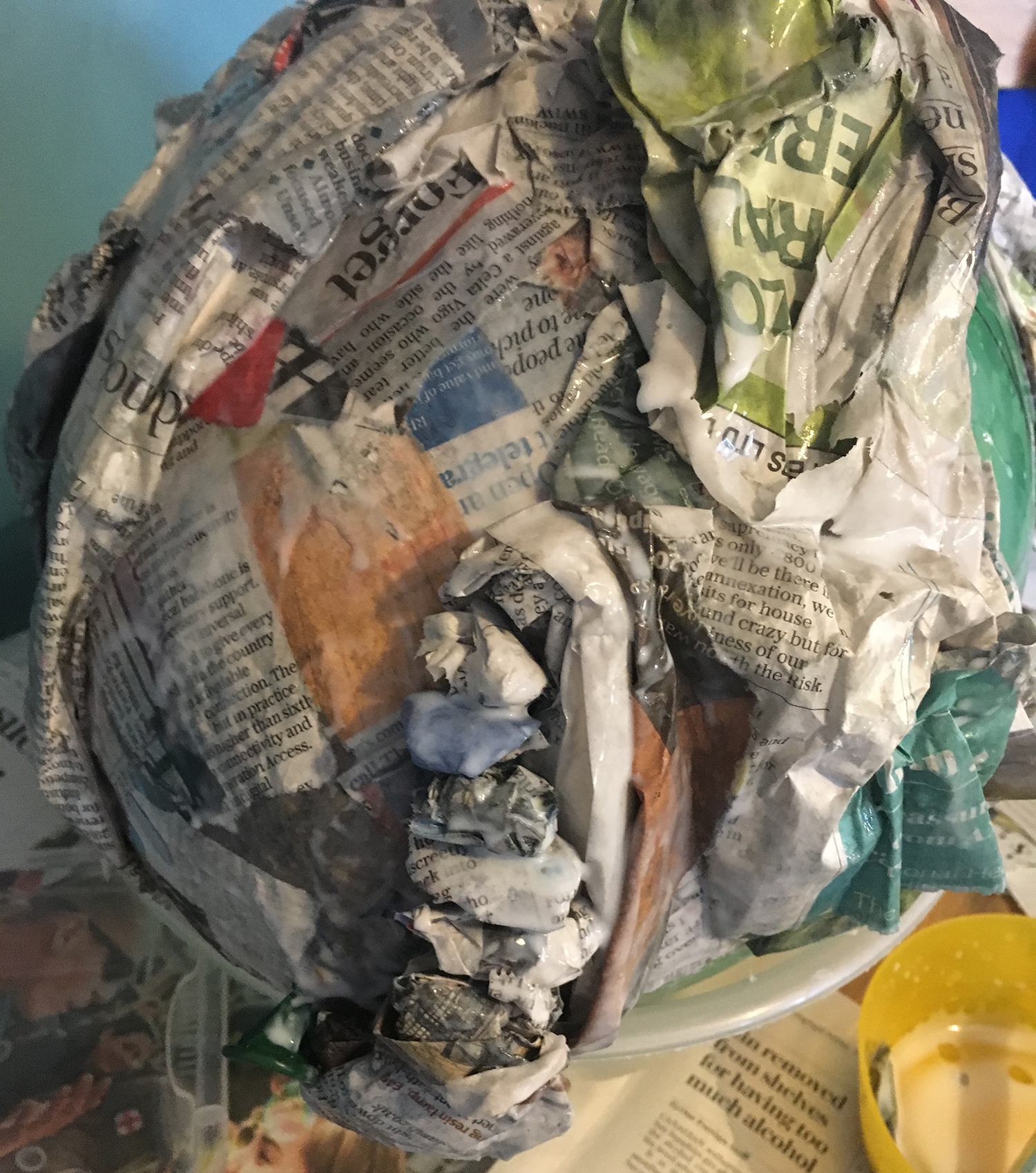 how to make a cave out of paper mache