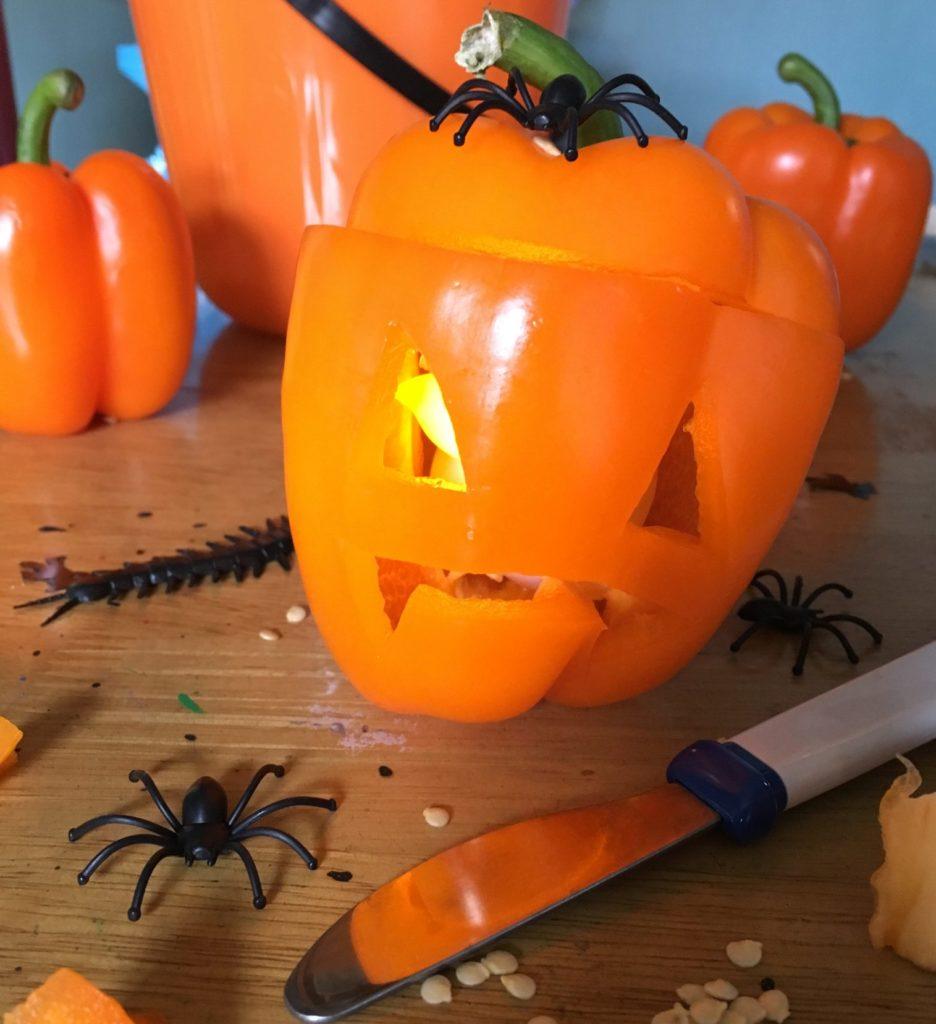 orange pepper carving