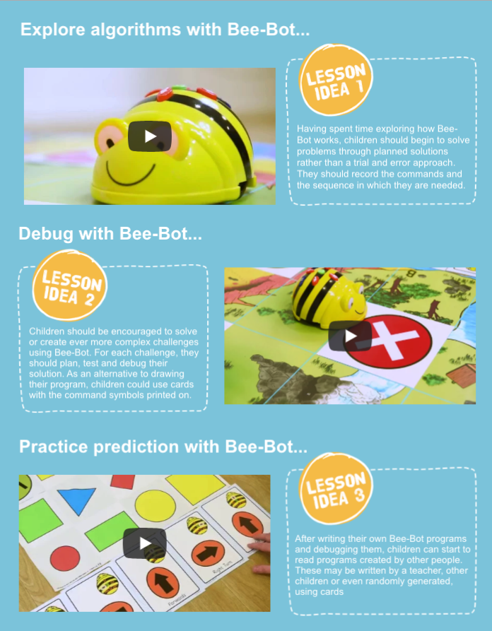 bee-bot rechargeable floor robot lesson ideas