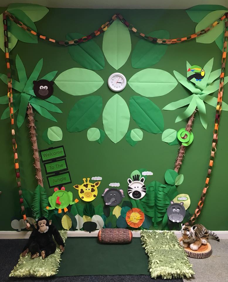classroom display ideas - rainforest jungle