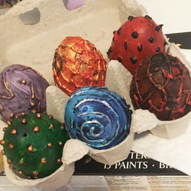 Dragon egg craft by Lottie Makes