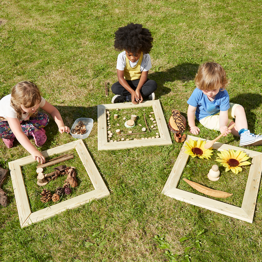 outdoor art wooden frames