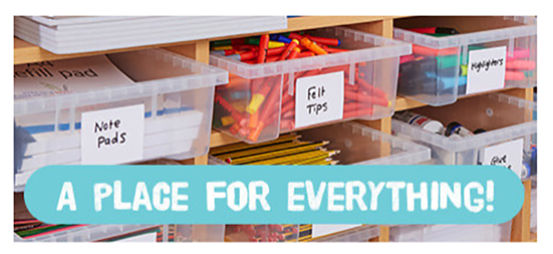 Storage and labelling - keeping organised