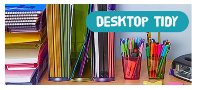 desktop tidy - back to school