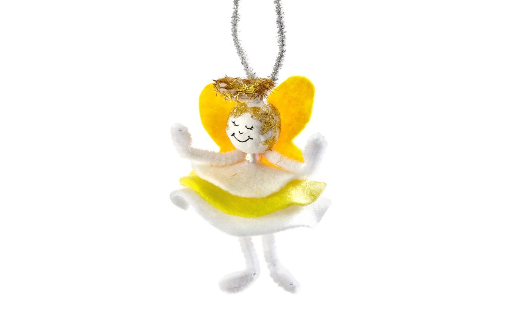 How to make a Christmas Angel Felt Fairy decoration