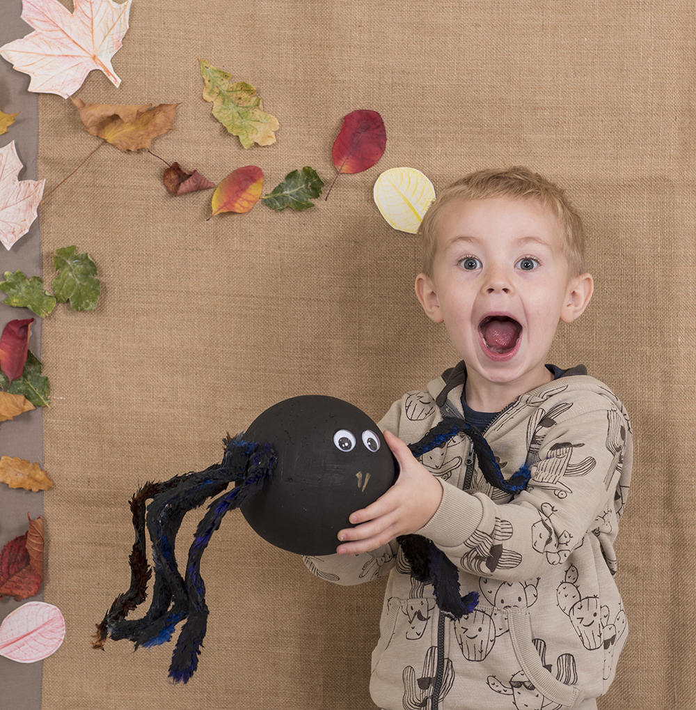 How to make a giant spider - halloween craft for children