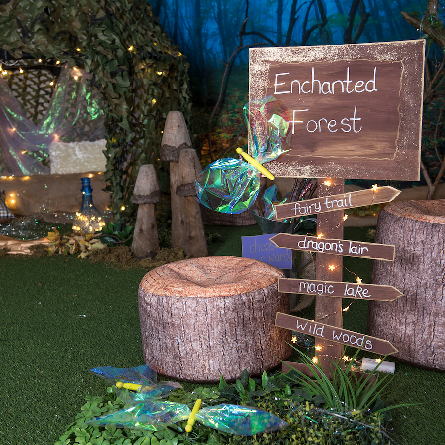 How To Make An Enchanted Forest Themed Learning Location