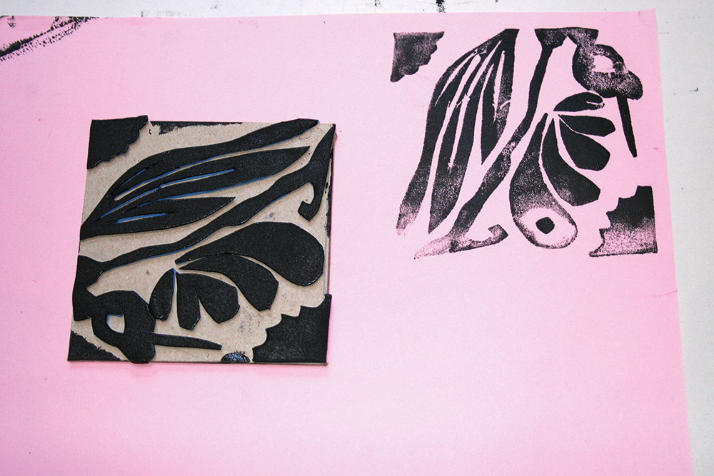 Print making using printing blocks