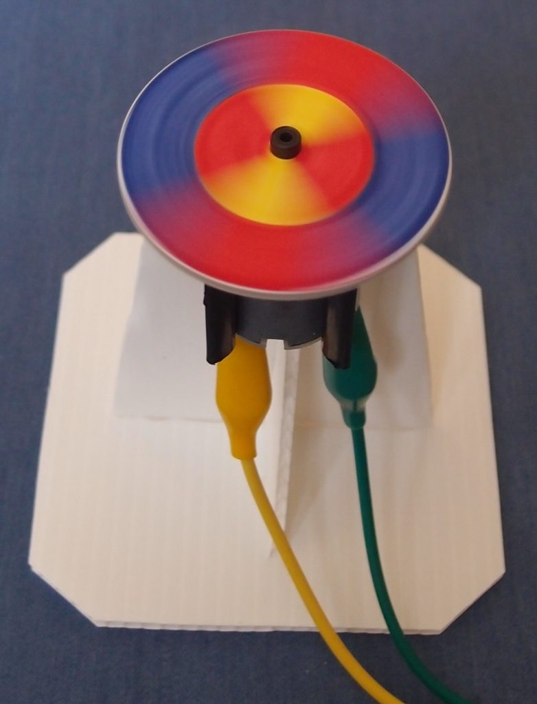 Make a coloured spinner - class STEM project