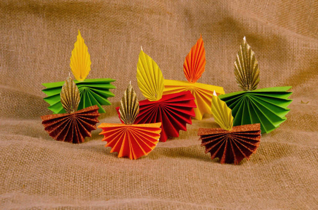 Selection of paper diyas