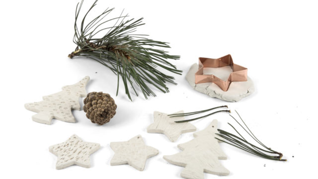Clay Christmas shape materials
