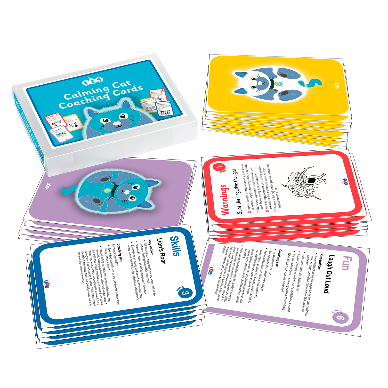 Calming Cat Coaching Cards for Supporting Emotional Wellbeing